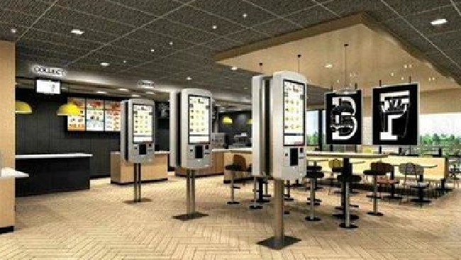 The new alphabet décor which will fit out the Camira McDonald's in Ipswich. Picture: Supplied