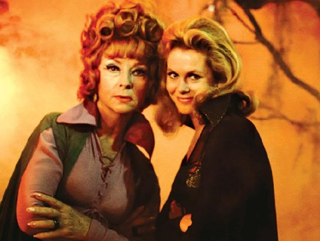 Agnes Moorehead (L) and Elizabeth Montgomery in a scene from 1960s TV series Bewitched. Picture: Supplied