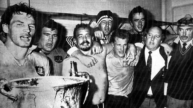 The Wallabies Celebrate Their 1986 Bledisloe Cup Win Over The All Blacks