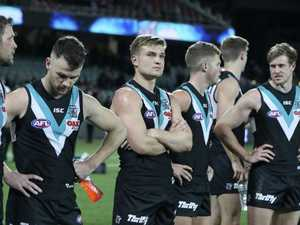 Port Adelaide's season ends in crowd violence
