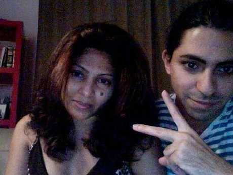 Raif Badawi with his wife Ensaf Haidar before his arrest and detention.