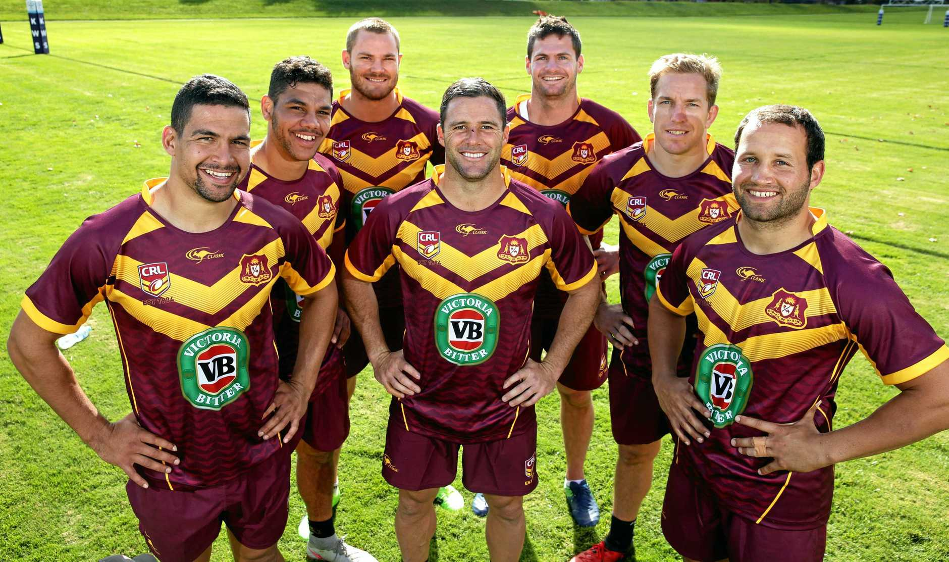 HISTORIC ITEM: The CRL's gold and maroon jersey could soon be retired after a merger with the NSWRL.