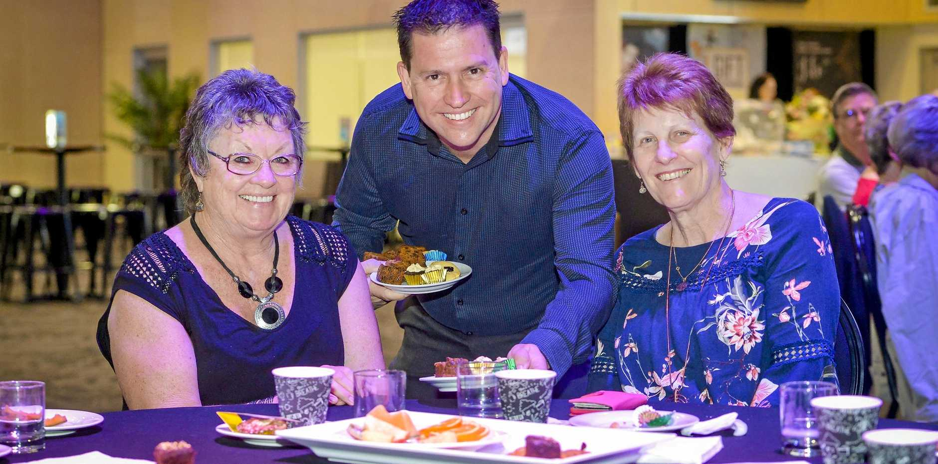 HERE'S TO YOU: Gladstone Region Mayor Matt Burnett serves morning tea to Gayle Young and Heather Kroesen at the Mayor's seniors week morning tea, held at Gladstone Entertainment Convention Centre on 25 August, 2018.
