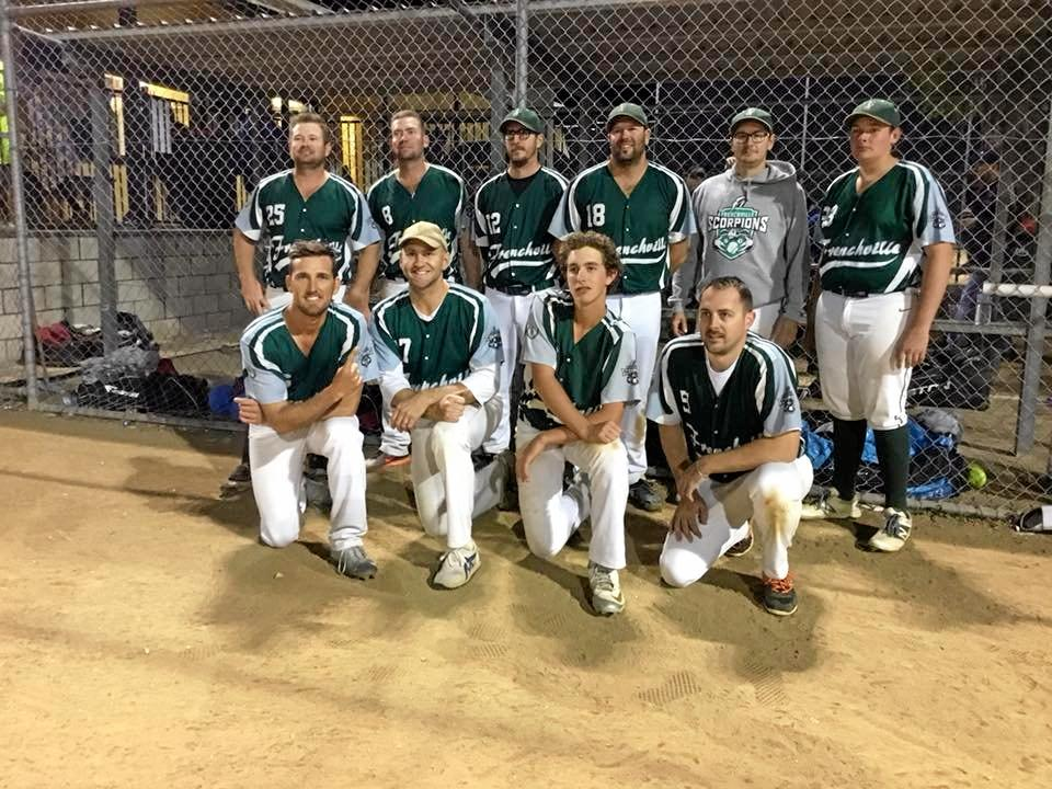 Frenchville (ABOVE) defeated Bluebirds (RIGHT) in the A men's softball grand final on Saturday night.