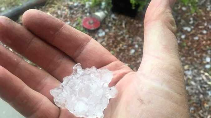 Hail strikes Gladstone residents