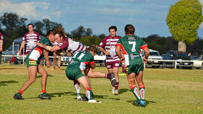 BULLDOGS WIN: Chinchilla Bulldogs versus Wallumbilla/Surat Red Bulls in the A-Grade Grand Final.