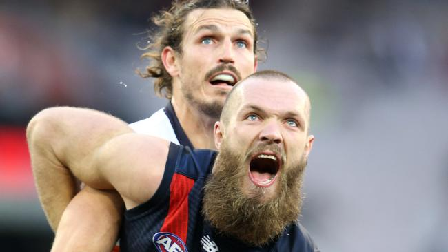 The Giants had no answer for Max Gawn. Picture: Michael Klein