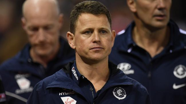 Carlton coach Brendon Bolton after the Round 17 AFL match against St Kilda. Picture: AAP Image/Julian Smith