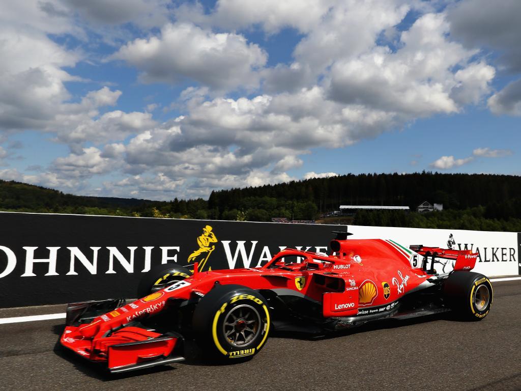 Sloppy seconds for Sebastian Vettel. (Photo by Mark Thompson/Getty Images)
