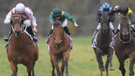 Jason Collett and Graff prove too powerful for their rivals in the San Domenico Stakes. Picture: AAP