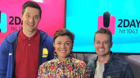 Ed Kavalee, Em Rusciano and Grant Denyer. Picture: Supplied