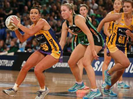 Kelsey Browne looks to set the Lightning alight during the decider. Picture: Getty Images
