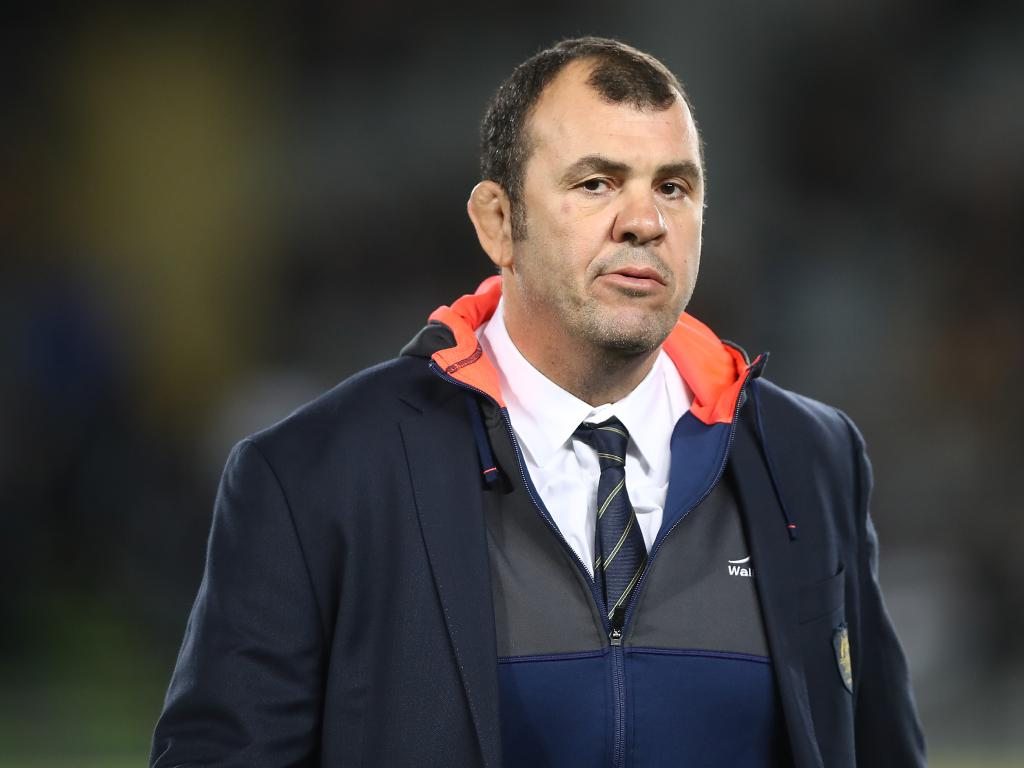 Wallabies coach Michael Cheika after another setback at Eden Park. Picture: Getty Images
