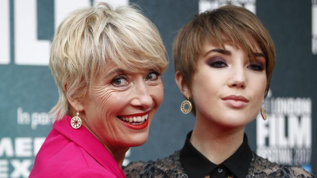 British actress Emma Thompson reveals her daughter was the victim of a sex assault on public transport.  Picture:  AFP