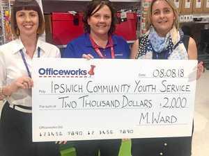 Kind donation for vital Ipswich service