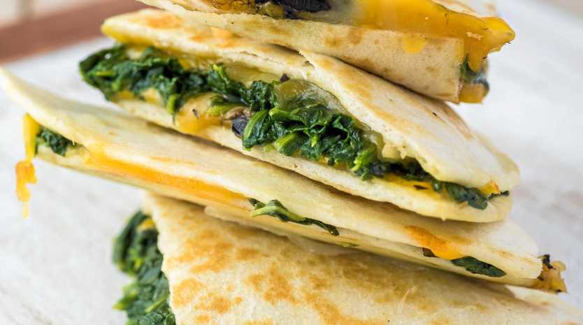 This tasty vegetarian quesadilla is easy to make to spoil your dad for Father's Day.