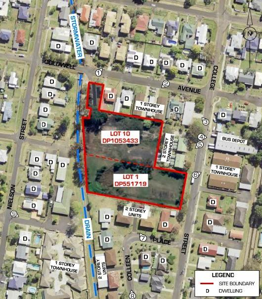 Proposed blocks for $6.5m East Lismore multi-dwelling housing development.