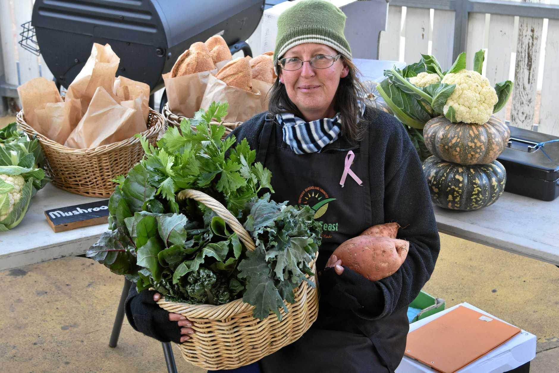 Natasha Jackson selling local produce at the Seasonal Feast Farmers Market.