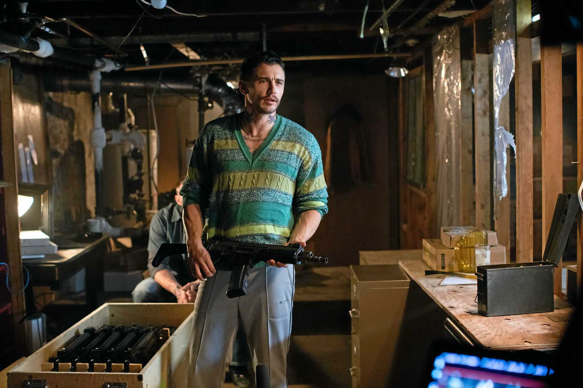 James Franco in a scene from the movie Kin. Supplied by Studiocanal.
