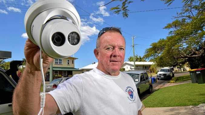 Chris Cheney from Classified Security Services has seen a growth in residential security cameras being installed across the Coast after a number of break-ins.