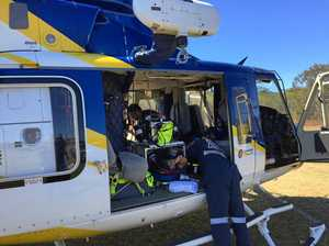 Female cyclist airlifted after collision