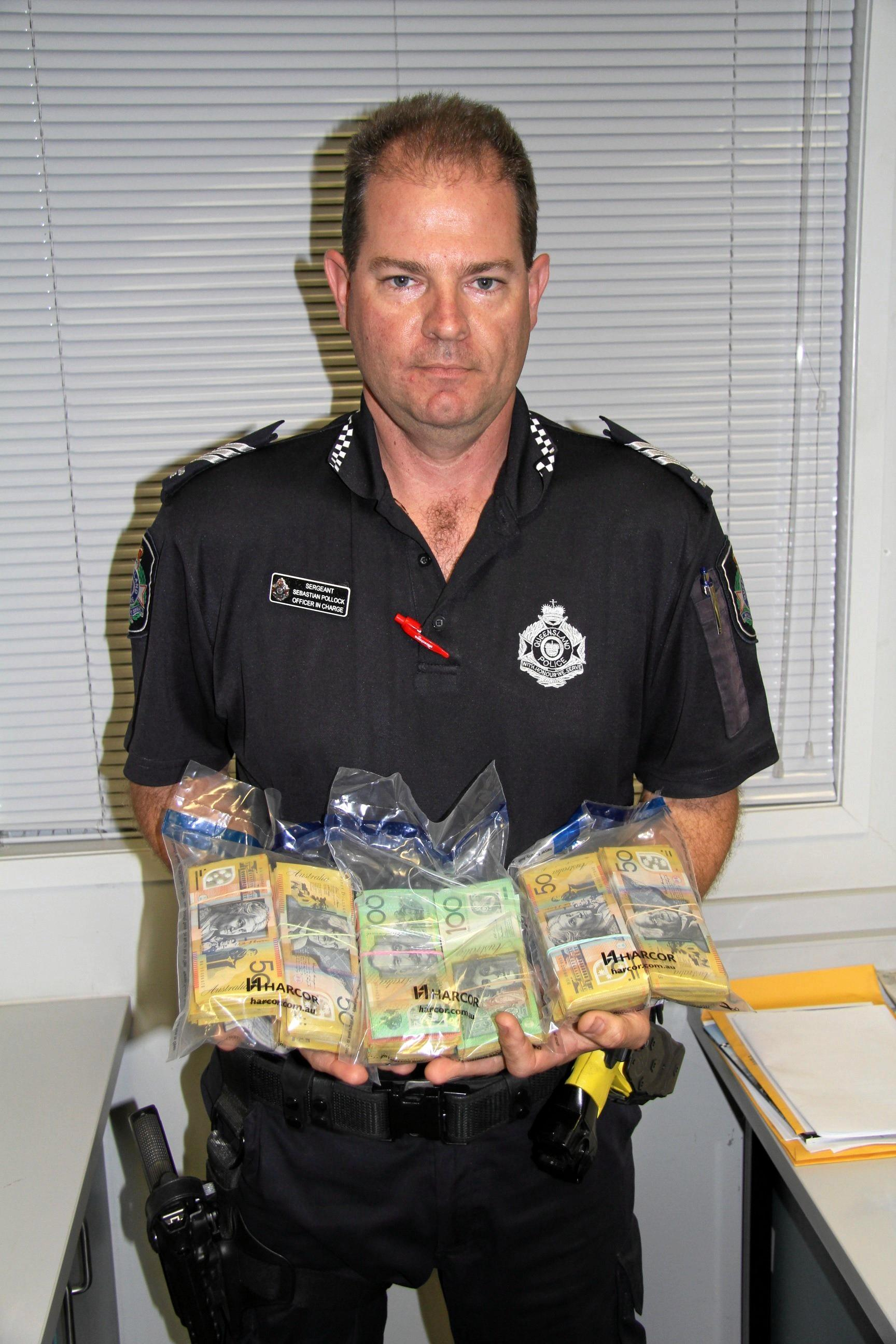 Officer in Charge Sgt Sebastian Pollock led the bust on Friday afternoon.