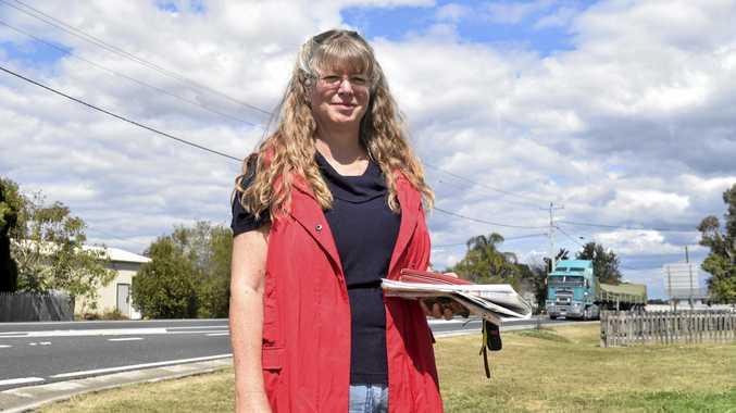 Anne Lloyd  after the Glenugie, Eight Mile Lane Interchange upgrade meeting.
