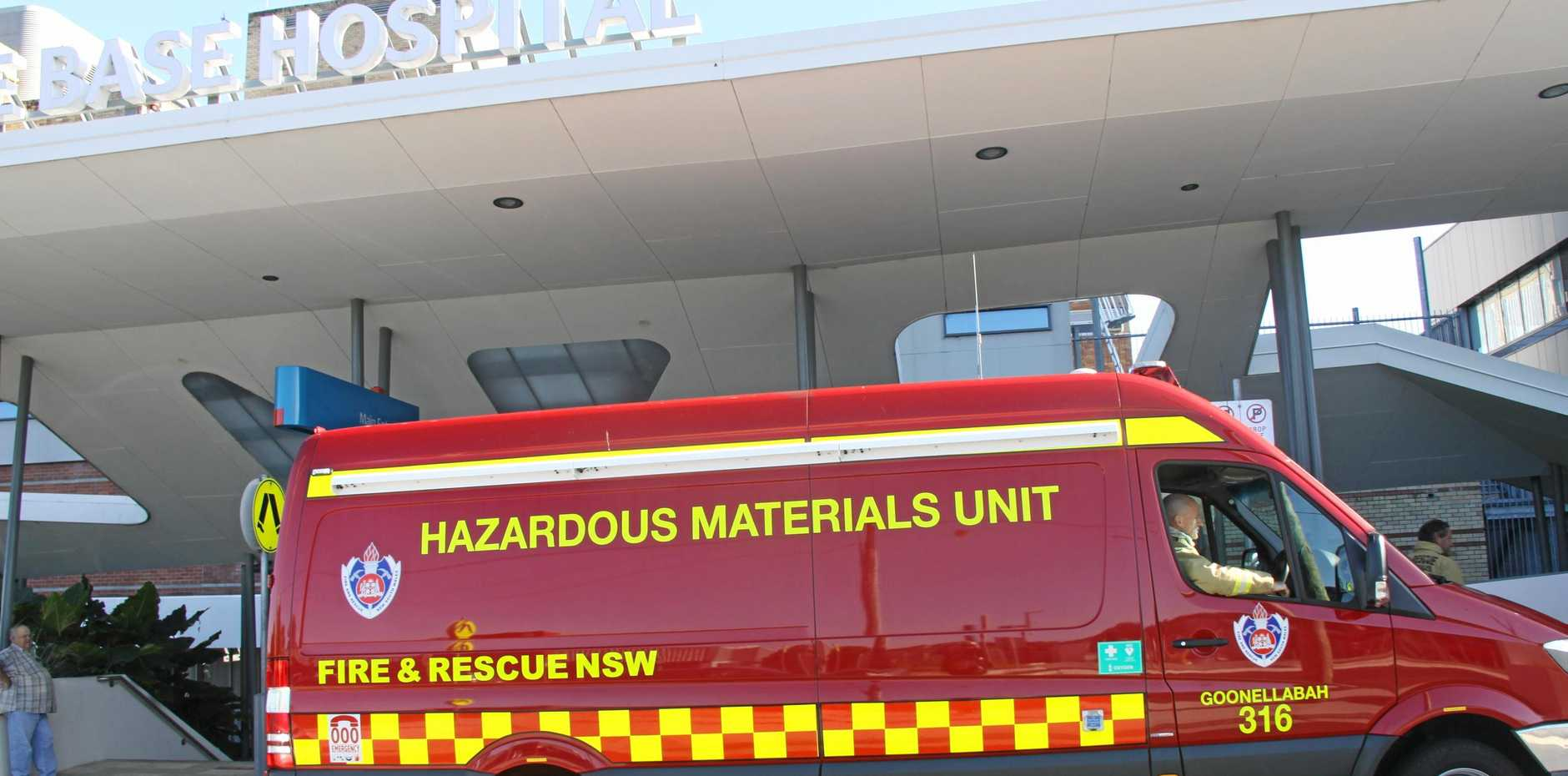 ATMOSPHERE CHECK: A Fire & Rescue NSW Lismore Hazmat crew were at Lismore Base Hospital early Monday morning to check on a possible gas leak. After conducting atmospheric tests it was declared safe.