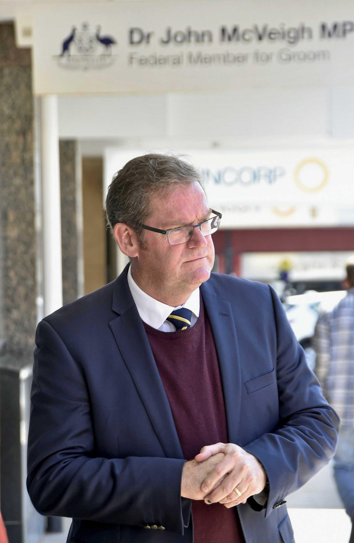 John McVeigh MP back at work in Toowoomba.
