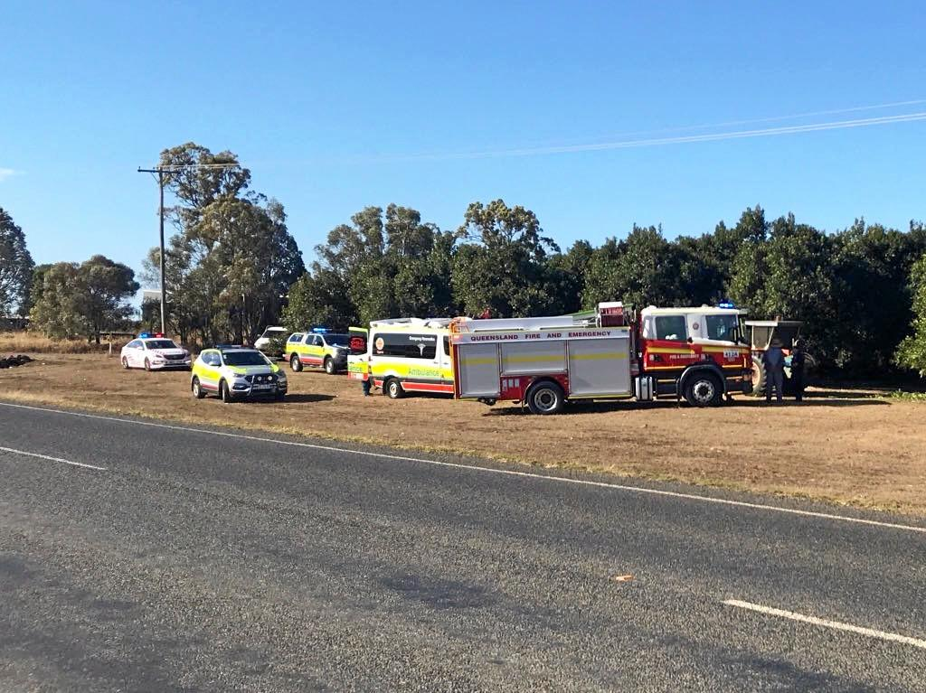 FARM ACCIDENT: Emergency crews rushed to Alloway after reports a man's arm was amputated by machinery.