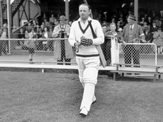 Australian cricketing legend Don Bradman.