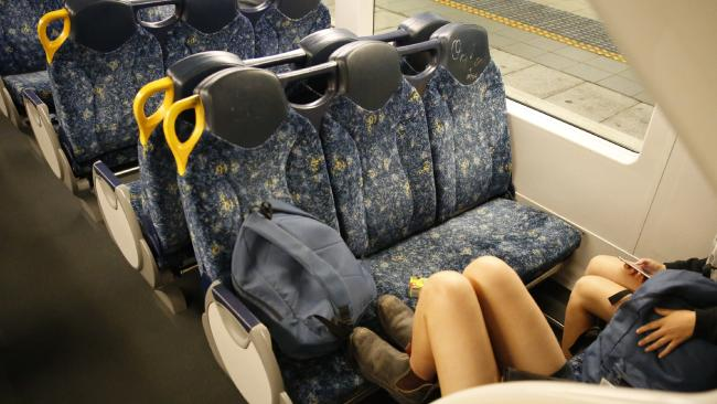 Taking up more than one seat or putting your feet on seats will attract fines across a variety of public transport.