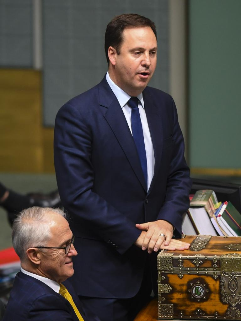 Moved … Steve Ciobo from Trade Minister into Defence Industries. Picture: AAP