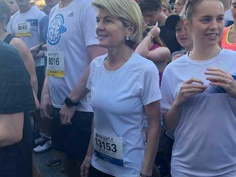 It takes more than a marathon for Julie Bishop to break a sweat.