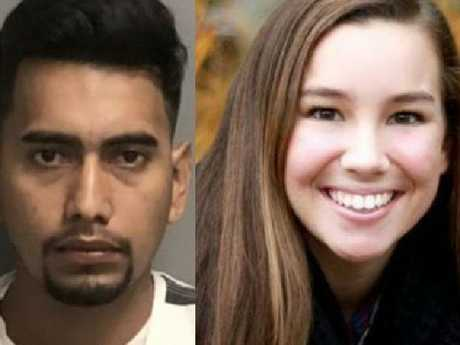Molly Tibbetts and suspected murderer Cristhian Rivera. Picture: Supplied