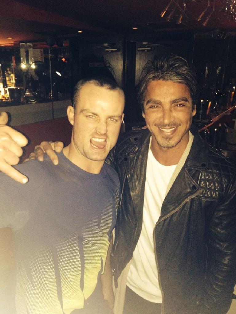 Jordan with former Kings Cross nightclub owner John Ibrahim. Picture: Facebook