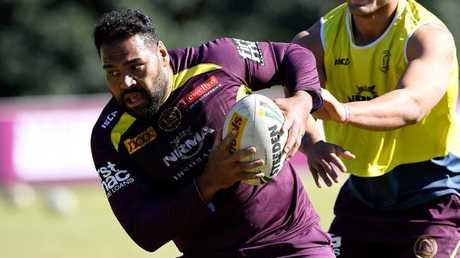 Thaiday is the last active player from Brisbane's most recent title. Photo by Bradley Kanaris/Getty Images.