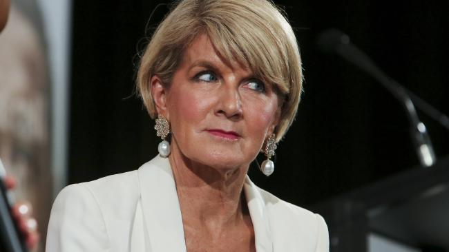 Julie Bishop at the Australian British Chamber of Commerce lunch, in Sydney.