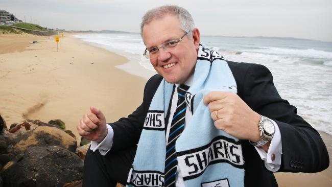 Scott Morrison needs the Cronulla Sharks, probably more than they need him. Picture: Craig Greenhill
