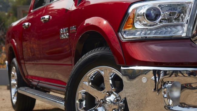 The Laramie has plenty of old-school chrome and bling. Picture: Supplied.