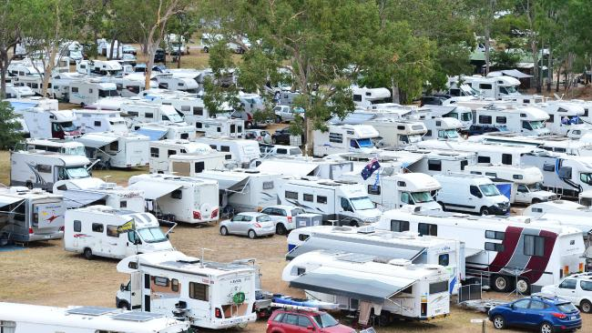 Grey nomads will be hit hard by the changes to 4WD towing laws. Picture: Zak Simmonds