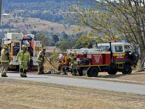 Firies powerless to stop blaze consuming family home