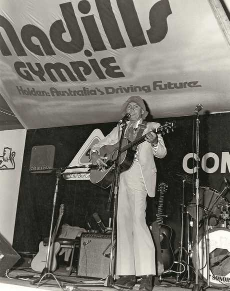Chad Morgan performs at the 1983 Muster.