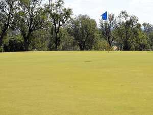 Across the golfing greens