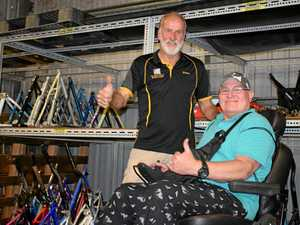 Gladstone man's faith restored after club gifts new scooter