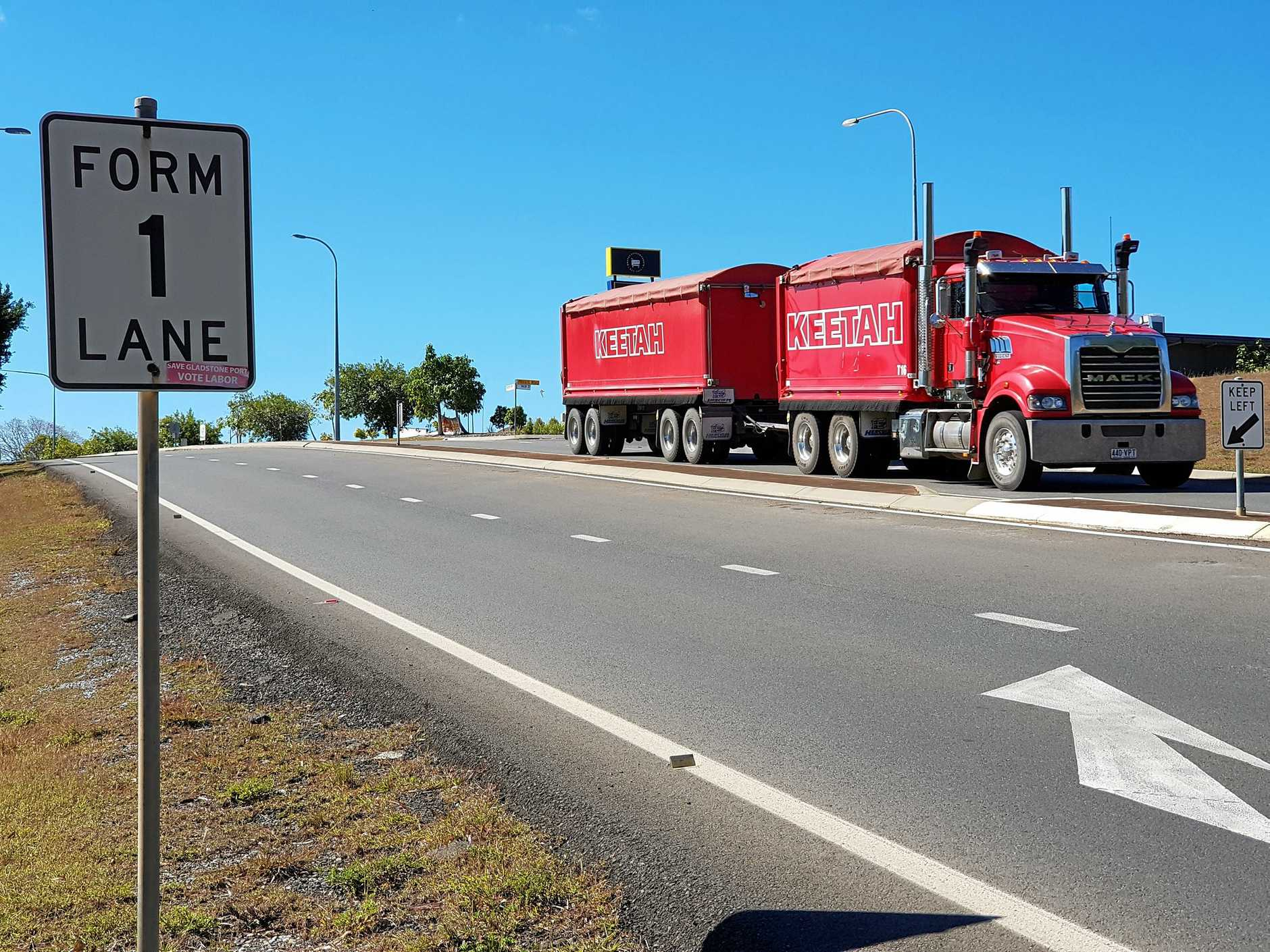 DANGEROUS: Callide MP Colin Boyce and Cr Peter Masters are calling for the upgrade of the Dawson Hwy crossing near Drynan Drive.