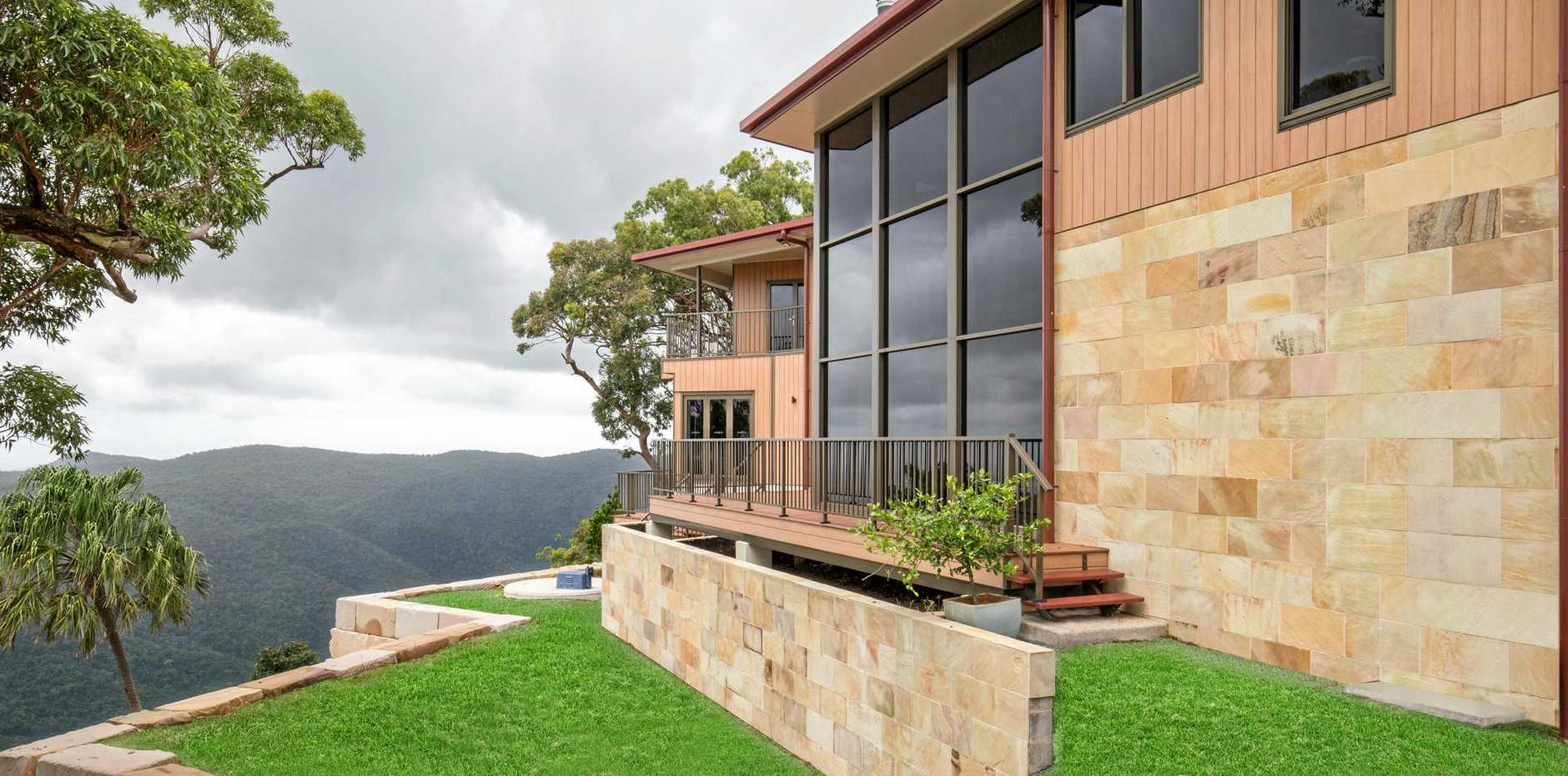 MASTER BUILDERS AWARDS: The home sits atop Rockhampton's Mt Archer.