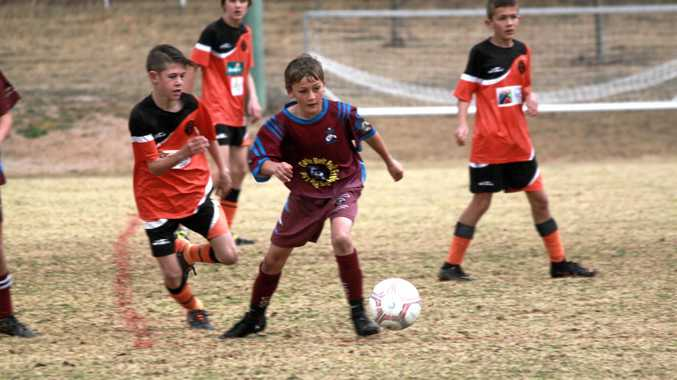 TOUGH TIE: City and Carlton contested the Junior Colts minor semi.