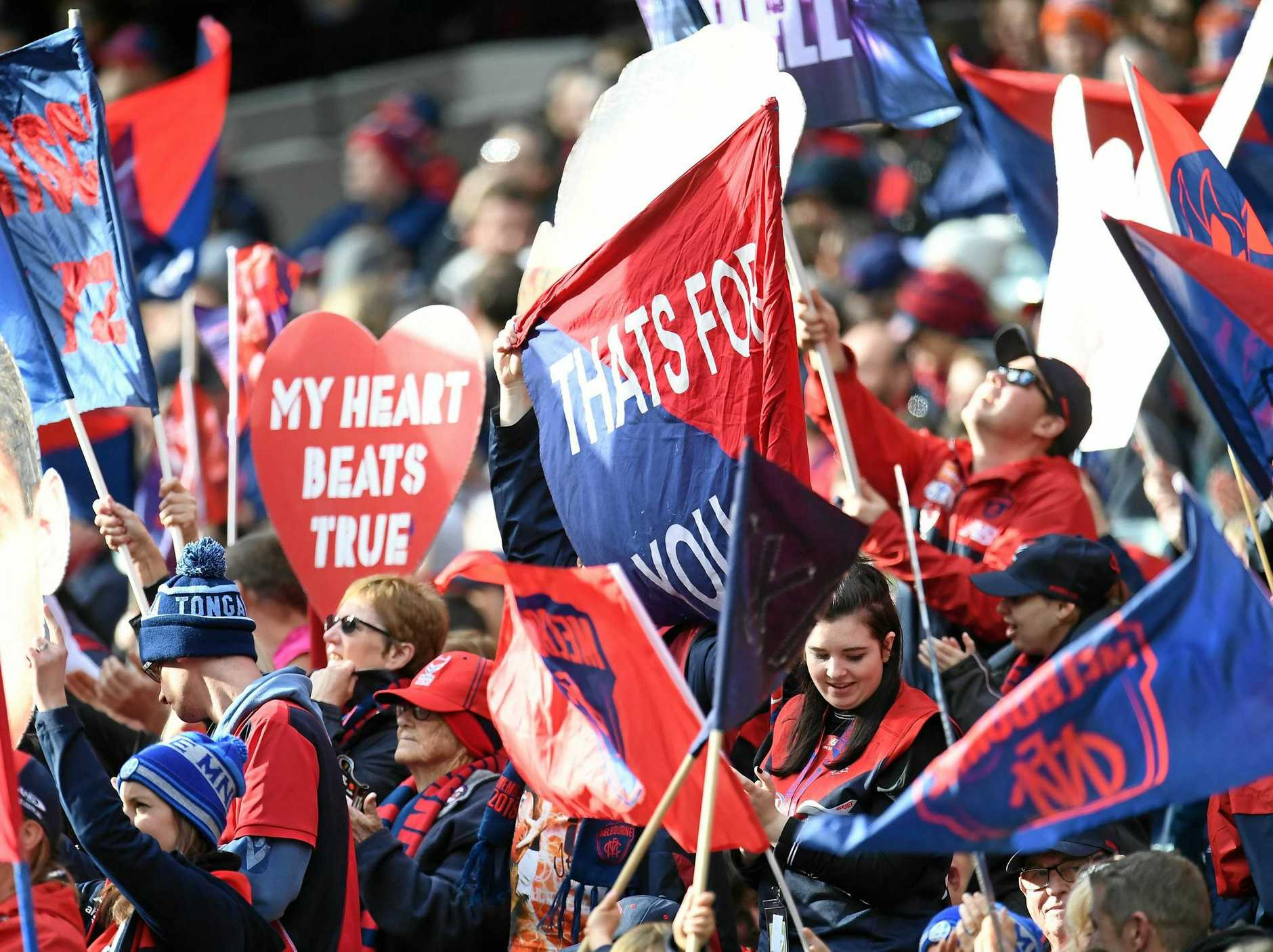 HEART BEATS TRUE: Demons fans have every right to celebrate their club's return to finals footy.