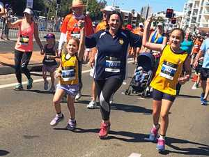 Isabella puts her heart into 2km run with classmates